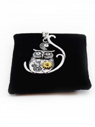Ожерелье стимпанк часы с совой