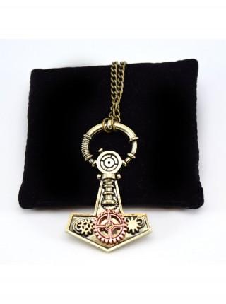 Ожерелье стимпанк якорь