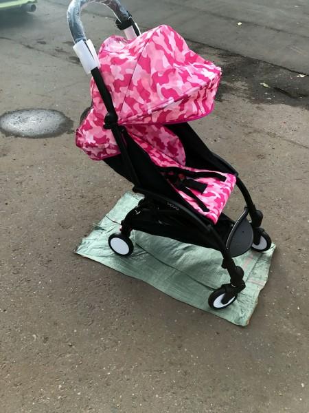 Сменный текстиль для Yoya 175 (розовый камуфляж)