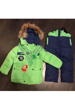 Комбинезон детский светло-зеленый (тройка)