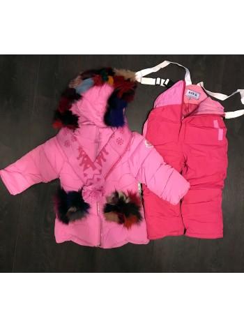 Комбинезон детский розовый (тройка)