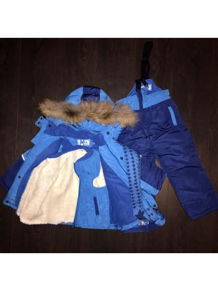 Комбинезон детский синий (тройка)