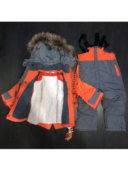 Комбинезон детский оранжевый (тройка)