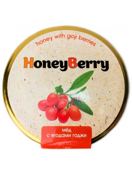 Мед HoneyBerry с ягодами годжи (СБ100)